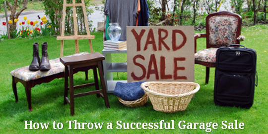 Delightful How To Throw A Successful Garage Sale Newsletter