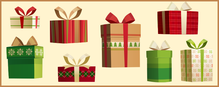 Christmas gifts clip art png cash