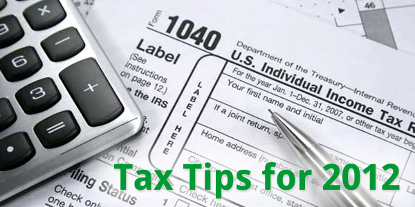 Tax Tips for 2012