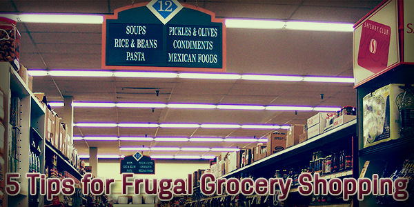 5 Tips for Frugal Grocery Shopping