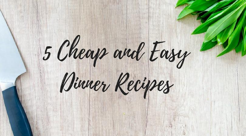 dinner cheap fast easy