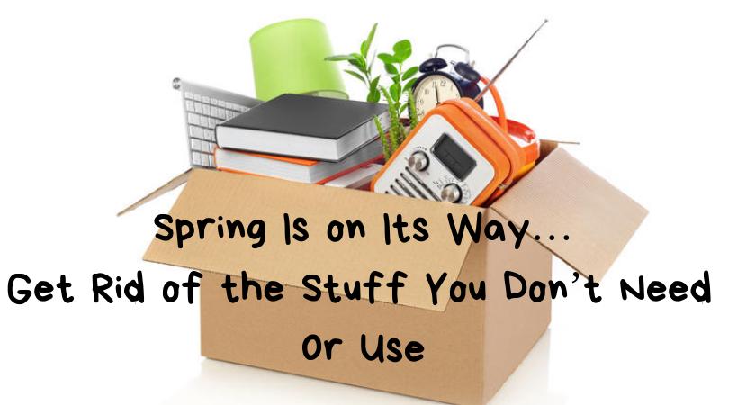 spring is on its way 4 decluttering tips billcutterz money saving blog. Black Bedroom Furniture Sets. Home Design Ideas