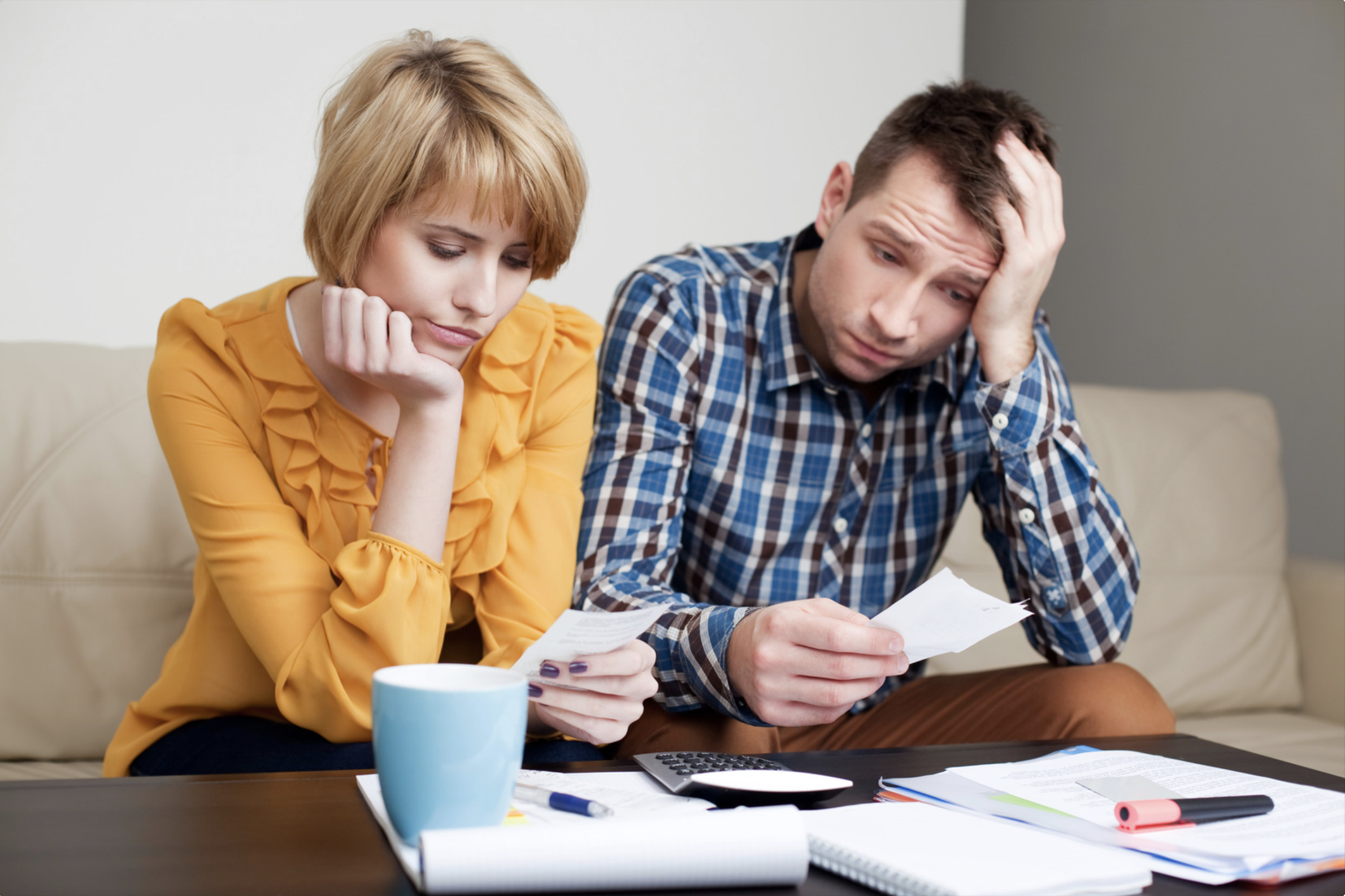 Couple frustrated by bills